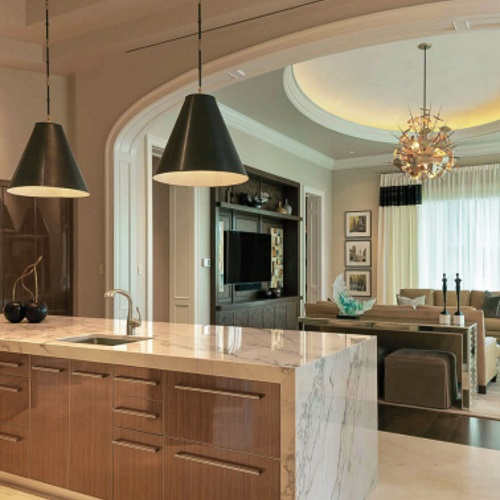 luxury condo kitchen with appliances