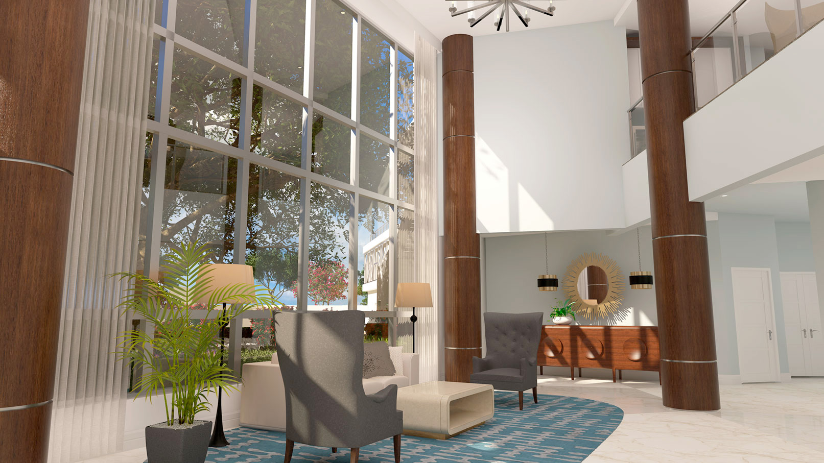 The Virage Bayshore clubhouse interior photo