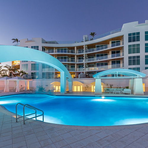 lavish pool at Tampa condominium