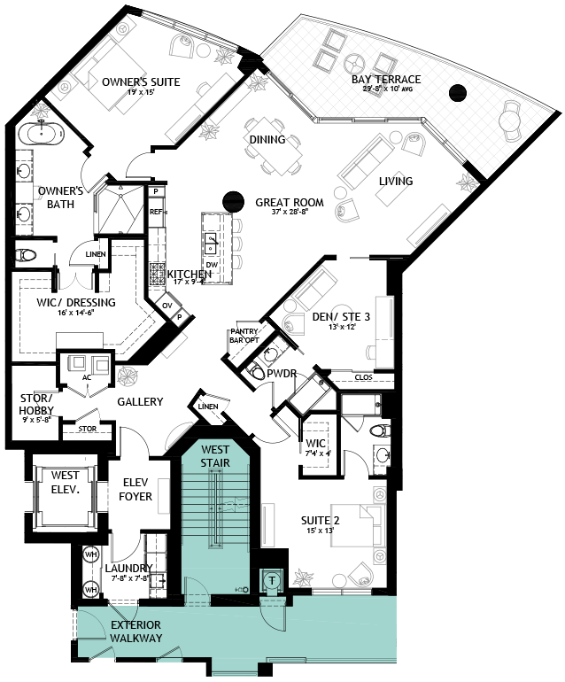 Crescent residence floorplan