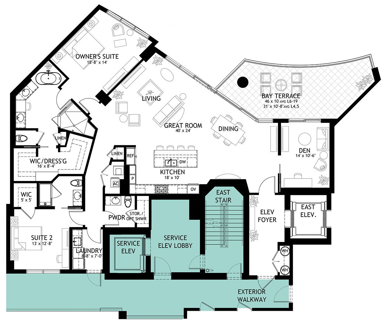Beacon luxury residence floorplan